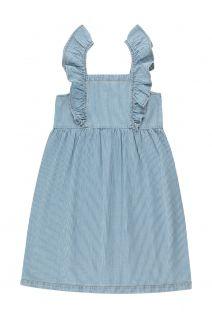 Striped Denim Frills Dress