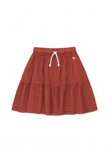 Check Skirt Red