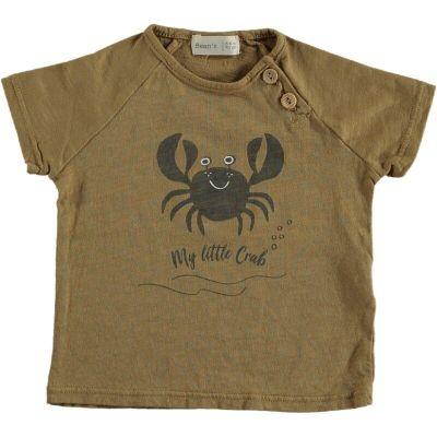 Crab Cotton T-shirt Camel