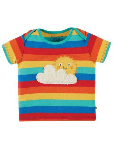 Bobster Applique T-shirt Rainbow Stripe Sun