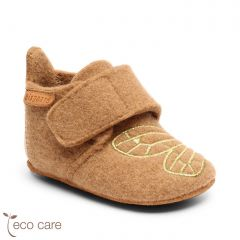 Baby Wool Home Shoe Camel / Gold
