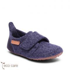 Casual Wool Home Shoe Blue