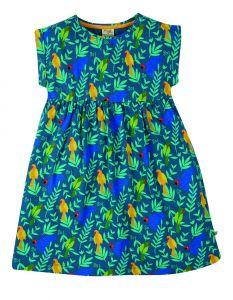 Faith Slub Dress Indian Parakeets