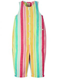 Jesse Dungaree Rainbow Stripe