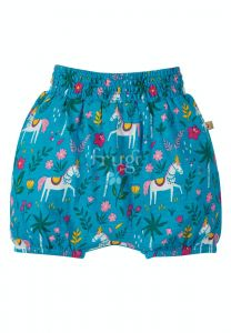 Steph Smocked Shorts Teal Indian Horse
