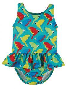 Newlyn Nappy Swimsuit Pacific Aqua Parrots
