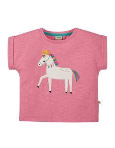 Sophia Slub Mid Pink Horse