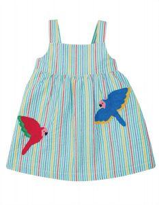 Alma Summer Dress Cobolt Stripe Rainbow