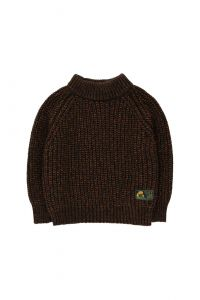 Multicolor Mockneck Sweater Dark Multicolor