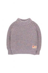 Multicolor Mockneck Sweater Pastel Multicolor