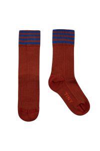 Stripes Medium Socks Dark Copper/Ultramarine