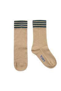 Stripes Medium Socks Cappuccino/Stormy Blue