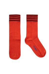 Stripes Medium Socks Red/Deep Plum