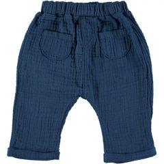 Bambula Pants With Pockets Blue