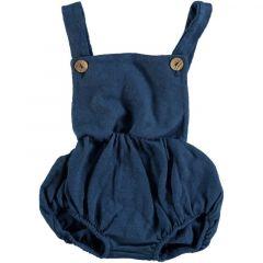 Summer Fleece Romper Blue