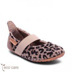 Ballet Wool Home Shoe Leopard