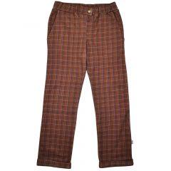 Boys Pants Brown Check