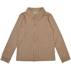 Boys Shirt Longsleeves Blond Check