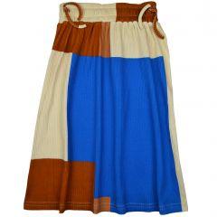 Chaga Skirt Colorblock Rib
