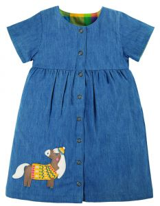 Romilly Reversible Dress Chambray / Horse