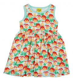 Pansy - Beach Glass - Sleeveless Dress w Gathered Skirt