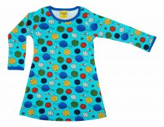 Small Planets Blue Atoll Longsleeves Dress