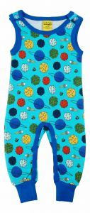 Small Planets Blue Atoll Dungarees