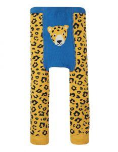 Little Knitted Leggings Leopard Spot