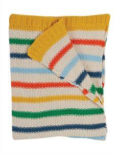 Cuddle Up Blanket Rainbow Stripe