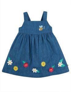 Hallie Linnen Dress India Ink Flowers