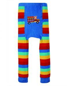Little Knitted Leggings Rainbow Stripe Truck