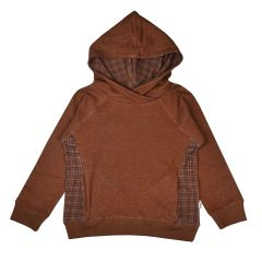 Hooded Sweater Brown Dots