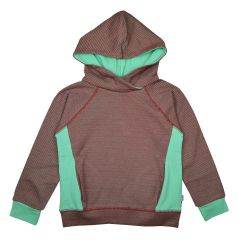Hooded Sweater Diagonal Stripes