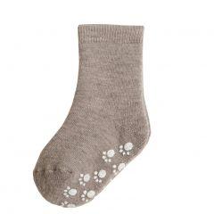 Wollen Anti-Slip Sokken Beige