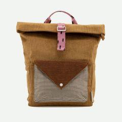 Large Backpack Corduroy Envelope Bruin