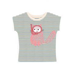 Diver Cat Striped T-shirt
