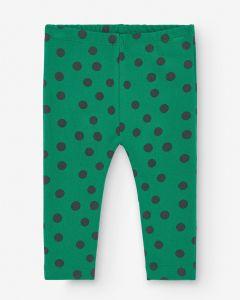 Baby Slim Pant Minidot Green&Black