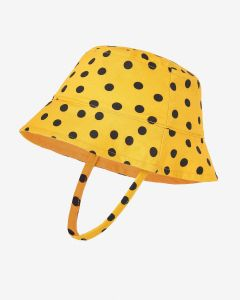 Baby Hat Black Mini Dots