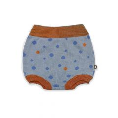 Jacquard Bloomer - Icy Blue/Dots