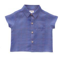 Button Down Shirt - Iris/Checks