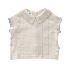 Cap Sleeve Top - Gardenia/Checks