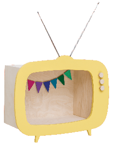 Teevee TV Shelf Yellow