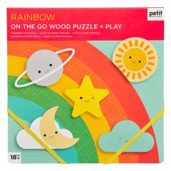 Chunky Wood Puzzle Rainbow