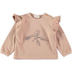 Abril Jersey Sweatshirt Bird Pink